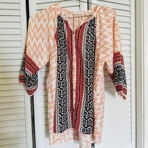 Peach tribal tunic